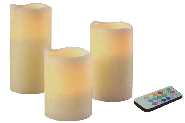 LED Kaarsen Color Changing (set van 3 stuks)