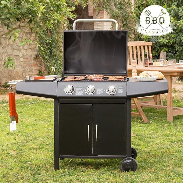 Vaggan gas barbecue grill 3-pits 133x55x104 cm