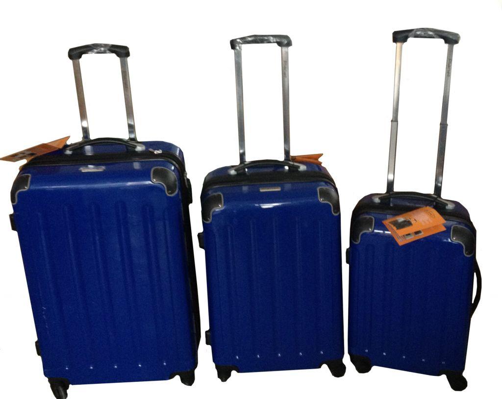 Afbeelding van 3 delige trolley set blauw