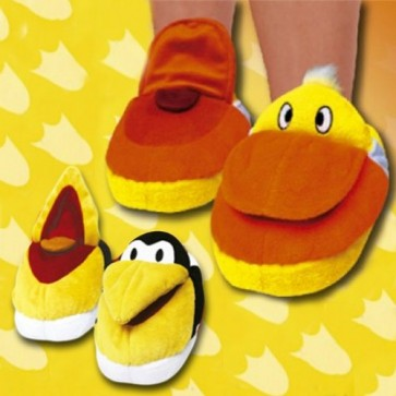 Fluffy slippers eend