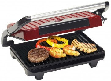 bestron panini grill rood