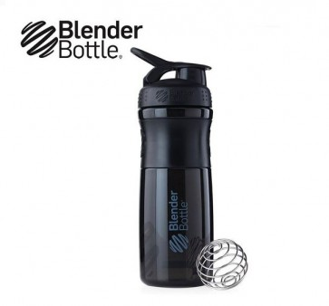 Blender bottle, sportmixer 820 ml, zwart