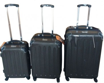 3 delige trolley set brons