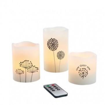 deco wax kaarsen, led kaarsen, kaarsen LH89