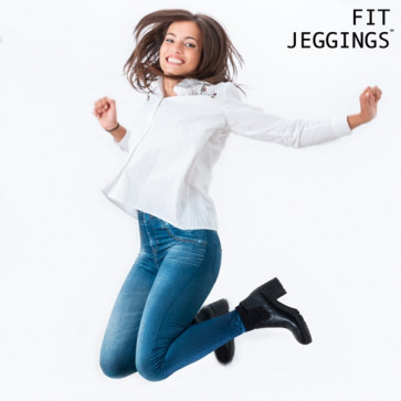 Fitjeggings Jeans-Print Slimfit Jegging
