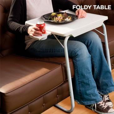Inklapbare Tafel met Bekerhouder - Foldy Table