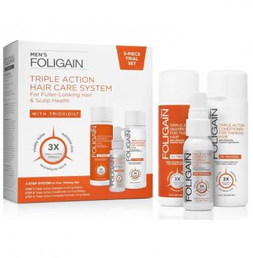 Foligain Men's Triple Action Hair Care System