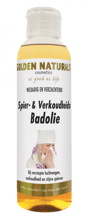 Golden Naturals Spier & Verkoudheids Badolie 150 ml.