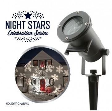 Laser Light Night Stars Holiday Charms