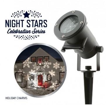 Laser Light Night Stars Holiday Charms
