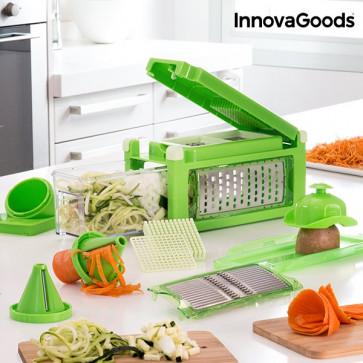 InnovaGoods 8-in-1 Groentesnijder en -rasp met Receptenboekje
