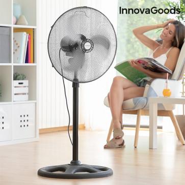 InnovaGoods industriële Ø 45 cm 75W Zwarte ventilator op standaard in werking