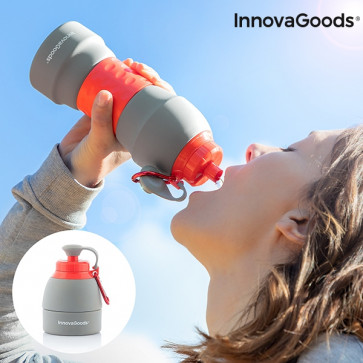 InnovaGoods Opvouwbare Siliconen Fles 580 ml