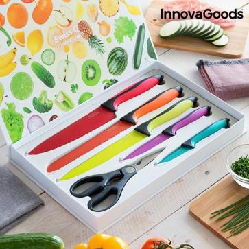 InnovaGoods Swiss•Q Fashion set keramische messen en schaar (6 stuks)