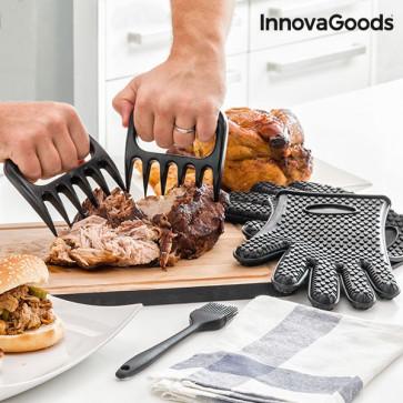 InnovaGoods Vleesklauwen met handschoenen en borstel