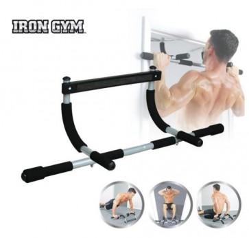 Iron Gym Optrekstang - Zwart