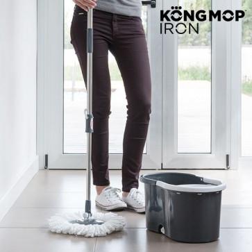 Kong Mop Iron Draaiende Dweil met emmer