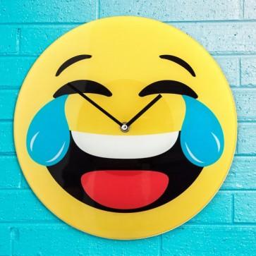 Lach Emoticon Wandklok, Wandklok, Emoticon, Lach,