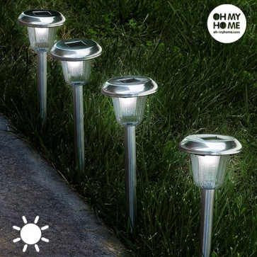 OhMyHome Ronde Tuinlampen op Zonne-energie