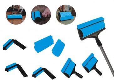Pluisverwijderaar 6 delig blauw/zwart
