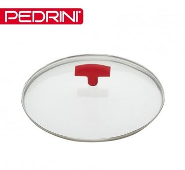 Pedrini deksel rood, 28 cm pannendeksel