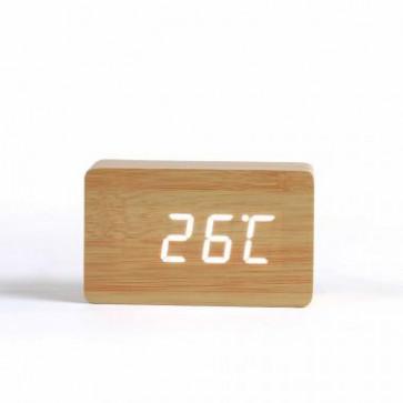 Digitale klok met hout-look