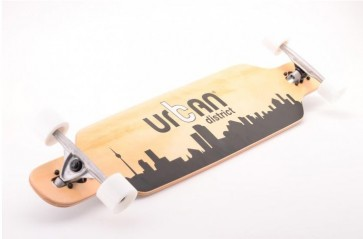Longboard, Urban District, Urban District Longboard, wieltjes, zwart, hout