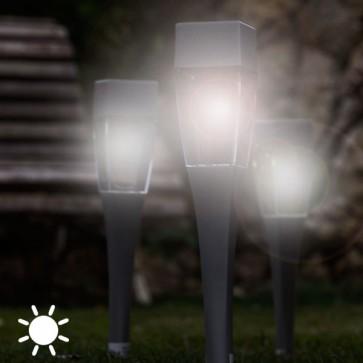 vierkante tuinlampen, zonnelampen