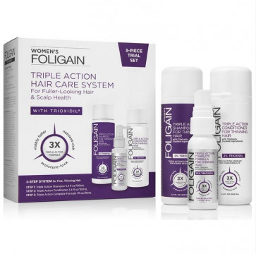Foligain Woman's Triple Action Hair Care System