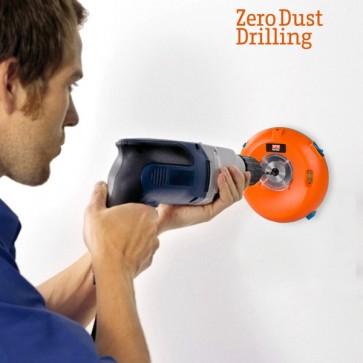Zero dust drilling  boorstof verzamelaar vangt alle boorstof op tijdens het boren