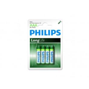 Philips Longlife AAA 4 stuks R03