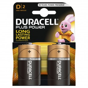 Duracell 9v Plus Power Duralock D2 LR20/ MN1300