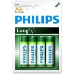 Philips Longlife AA 4 stuks R6 Mignon