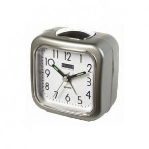 Deze analoge wekker van Balance Time neemt u gemakkelijk overal mee naartoe