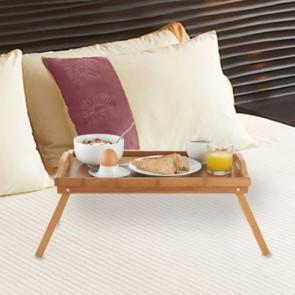 Gemakkelijk ontbijt op bed met het Bamboe dienblad op pootjes