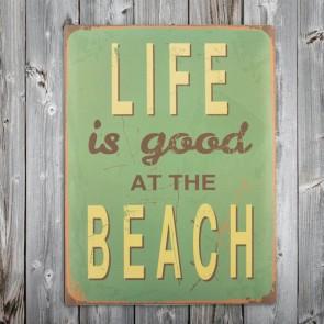 Beach Vintage Metalen plaat