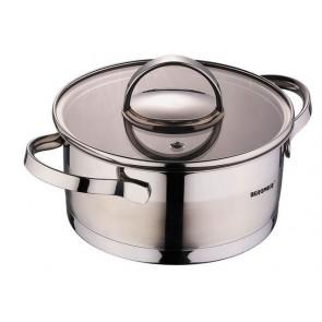 Bergner Dazzle RVS pan met Deksel 1.35 L, pan met deksel,