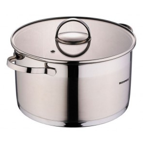 Bergner Dazzle RVS pan met Deksel 5,7 L, Pan,