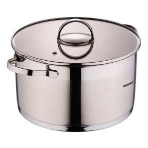 Bergner Dazzle RVS pan met Deksel 5,7 L, Pan met Deksel