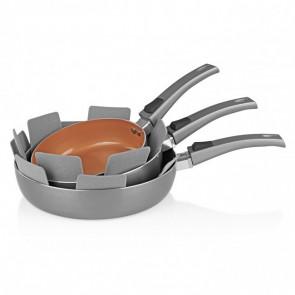 Bratmaxx Keramische Koekenpannenset met Hoge rand 3-delig