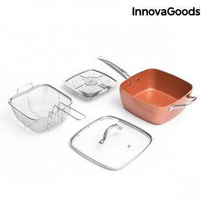 Innovagoods Copper Keramische Multi-kook Pan 4 delig