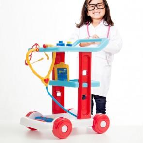 Dokterspel Trolley, loopkar dokter