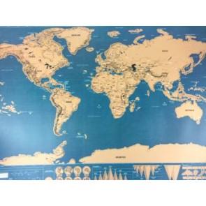 Wereldkaart Scratch Map Deluxe