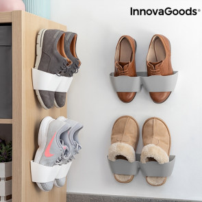 Zelfklevende schoenenrekken aan de muur