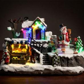 Kersttafereel met 12 LED, Kersttafereel,