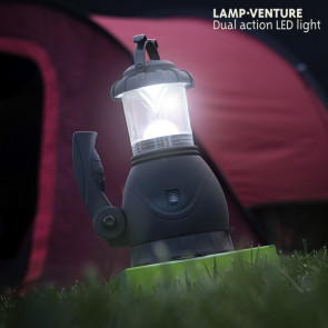 Lamp venture kampeerlicht met zaklamp