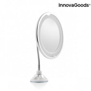 spiegel met ledlicht en flexibele arm