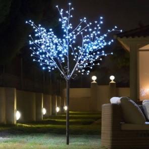 LED Silhouetboom met Blaadjes