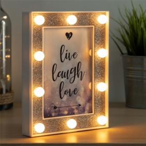 LED fotolijst met glitter rechtopstaand