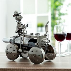 Metallic tractor flessen houder